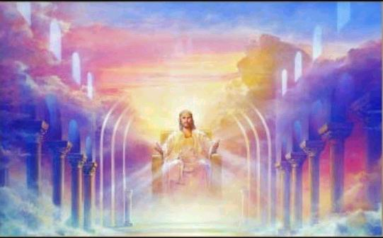 Jesus seated on the Throne
