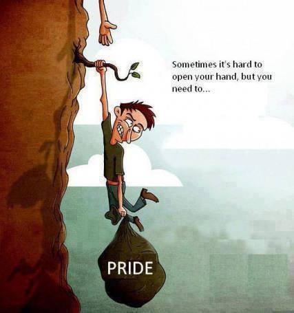 rid of pride