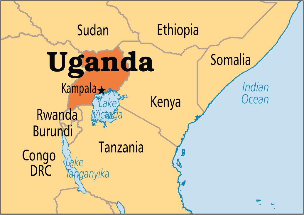 ugandan map