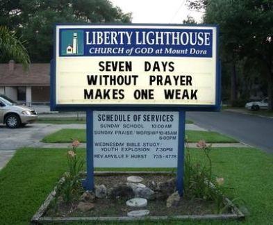 church signs a