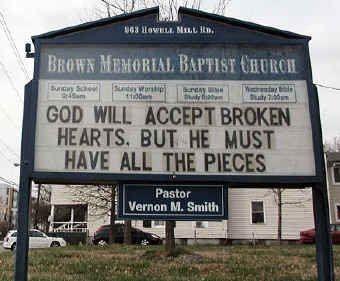 church signs e