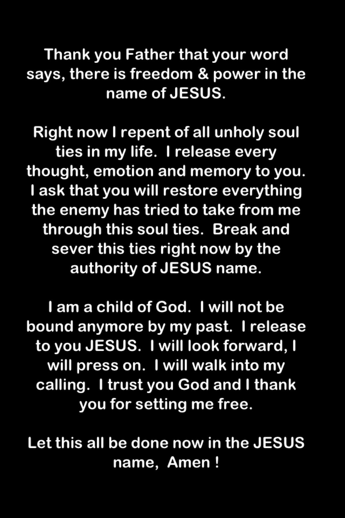 prayer to cut ungodly soul ties disciples of